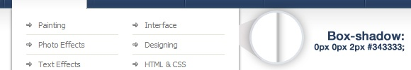 box shadow css3