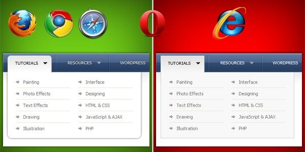 Comparaison CSS3 navigateurs